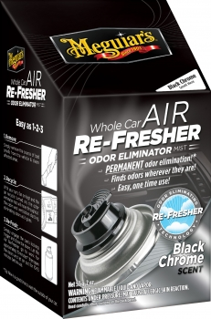 Meguiar's Air Refresher Odor Eliminator Black Chrome Scent